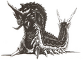 Concept Art - Godzilla vs. Mothra - Battra Larva 5