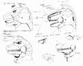 Concept Art - Godzilla vs. MechaGodzilla 2 - MechaGodzilla Head 3