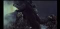 Godzilla jumps on Ghidorah