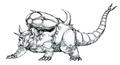 Concept Art - Godzilla vs. Destoroyah - Destoroyah 12