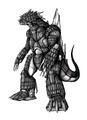 Concept Art - Godzilla Against MechaGodzilla - Kiryu 32