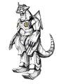 Concept Art - Godzilla Against MechaGodzilla - Kiryu 34
