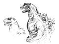 Concept Art - Godzilla 2000 Millennium - Godzilla 21