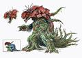 Concept Art - Godzilla vs. Biollante - Biollante 15