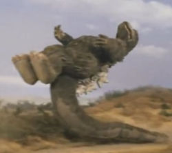 Godzilla vs. Megalon 11 - Tail Slide