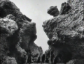 Godzilla Raids Again - 1 - Godzilla peering down from over the mountains