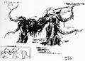 Concept Art - Godzilla vs. Biollante - Biollante Rose 1