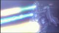 Super MechaGodzilla firing the Mega-Buster Ray, Garuda's cannons and Plasma Grenaded
