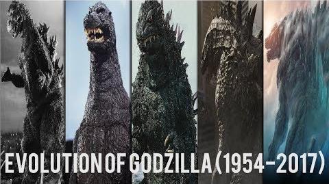 Evolution of Godzilla (1954-2017)