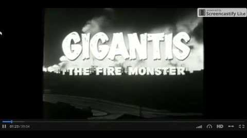 "Gigantis The Fire Monster Opening Title ""Original"""