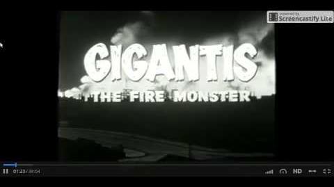 "Gigantis The Fire Monster Opening Title ""Original"""
