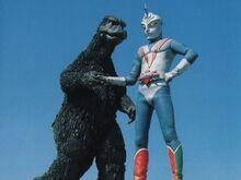 Godzilla Hände schütteln Zone Fighter