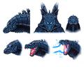Concept Art - Godzilla 2000 Millennium - Godzilla Head 13