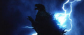 Godzilla X MechaGodzilla - Godzilla Being Struck By Lightning