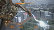 Mecha-King Ghidorah atacando a MechaGodzilla en Godzilla The Game