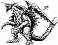 Concept Art - Godzilla vs. Destoroyah - Destoroyah 1