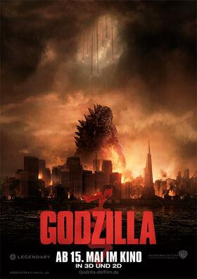 Godzilla 2014 German Poster