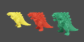 Godzilla Planet of the Monsters - Eraser-like Godzilla figures
