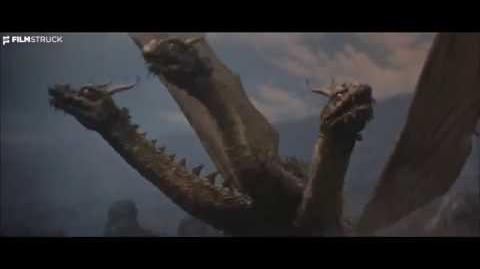 GHIDORAH, THE THREE HEADED MONSTER, Ishiro Honda, 1964 - Godzilla, Rodan & Mothra Battle Ghidorah