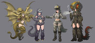 Random Japanese Kaiju Girls Fan Art