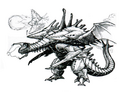 Concept Art - Godzilla vs. Destoroyah - Destoroyah 16