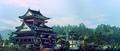 King Kong and Godzilla near the Pagoda