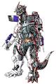 Concept Art - Godzilla Against MechaGodzilla - Kiryu 17