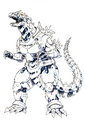 Concept Art - Godzilla Against MechaGodzilla - Kiryu 53