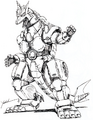 Concept Art - Godzilla vs. MechaGodzilla 2 - MechaGodzilla 6