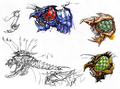 Concept Art - Godzilla vs. Megaguirus - Megaguirus 2