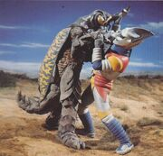 Jet Jaguar vs Megalon