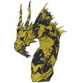 Concept Art - Godzilla Final Wars - Keizer Ghidorah Head Middle