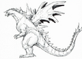Concept Art - Godzilla vs. SpaceGodzilla - SpaceGodzilla 6