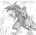 Concept Art - Godzilla 2000 Millennium - Orga 8