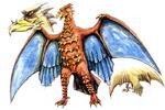 Concept Art - Godzilla vs. MechaGodzilla 2 - Rodan 1