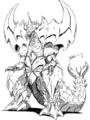 Concept Art - Godzilla vs. Destoroyah - Destoroyah 4