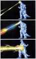 Concept Art - Godzilla vs. MechaGodzilla 2 - MechaGodzilla Beams 1