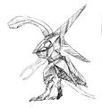 Concept Art - Godzilla 2000 Millennium - Orga 43