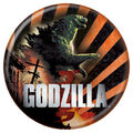 Godzilla 2014 Buttons - Orange Stripes
