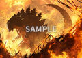 Godzilla Planet of the Monsters - Rakuten books - Cloth poster