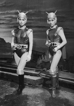 Hiroki Kai and Reiko Kasahara as the Terrans