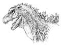 Concept Art - Godzilla 2000 Millennium - Godzilla 19