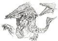 Concept Art - Godzilla 2000 Millennium - Orga 2