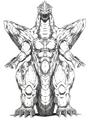 Concept Art - Godzilla vs. SpaceGodzilla - SpaceGodzilla 3