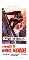 King Kong vs. Godzilla Poster Italy Thin