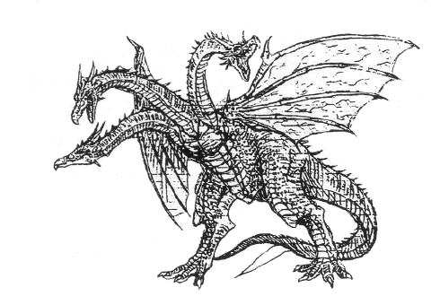 File:Concept Art - Rebirth of Mothra 3 - Cretaceous King Ghidorah 3.png