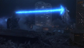 Godzilla fires at Mecha G