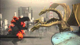 Burning Godzilla vs King Ghidorah en Godzilla The Game