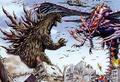 Concept Art - Godzilla vs. Megaguirus - Godzilla and Griffon vs. Megaguirus