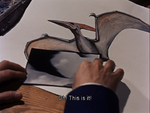Two portrait of Pteranodon and a Rodan's wing and feet